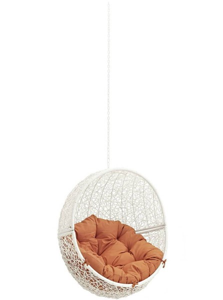 Modway Furniture Hide White Orange Outdoor Swing Chair Without Stand EEI-2654-WHI-ORA