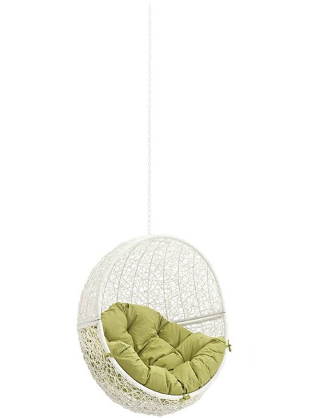 Modway Furniture Hide White Peridot Outdoor Swing Chair Without Stand EEI-2654-WHI-PER