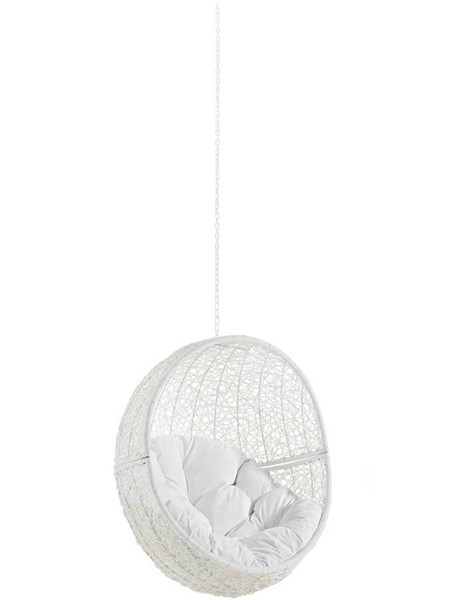 Modway Furniture Hide White Outdoor Swing Chair Without Stand EEI-2654-WHI-WHI
