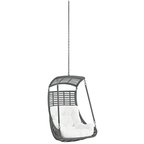 Modway Furniture Jungle White Outdoor Swing Chair Without Stand EEI-2655-WHI-SET