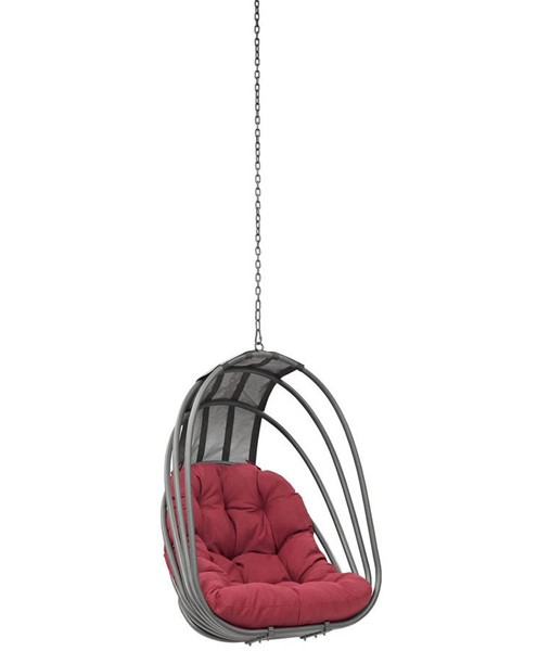 Modway Furniture Whisk Red Outdoor Patio Swing Chair without Stand EEI-2656-RED-SET