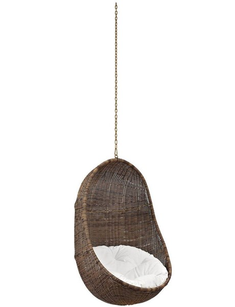 Modway Furniture Bean Outdoor Patio Swing Chair EEI-2658-YLW-WHI-SET