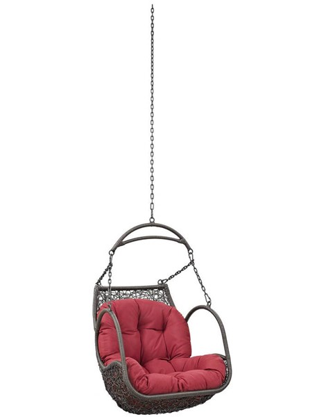 Modway Furniture Arbor Red Outdoor Patio Swing Chair Without Stand EEI-2659-RED-SET