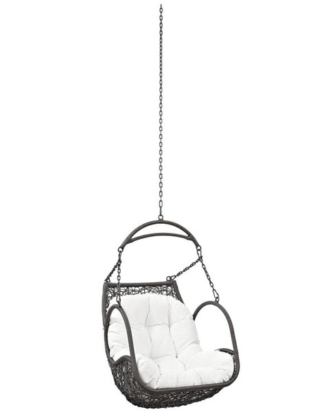 Modway Furniture Arbor White Outdoor Patio Swing Chair Without Stand EEI-2659-WHI-SET