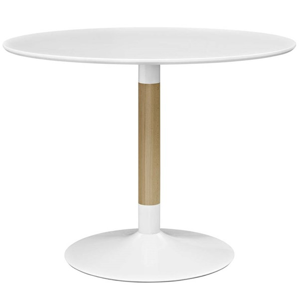 Modway Furniture Whirl White Round Dining Table EEI-2666-WHI-SET