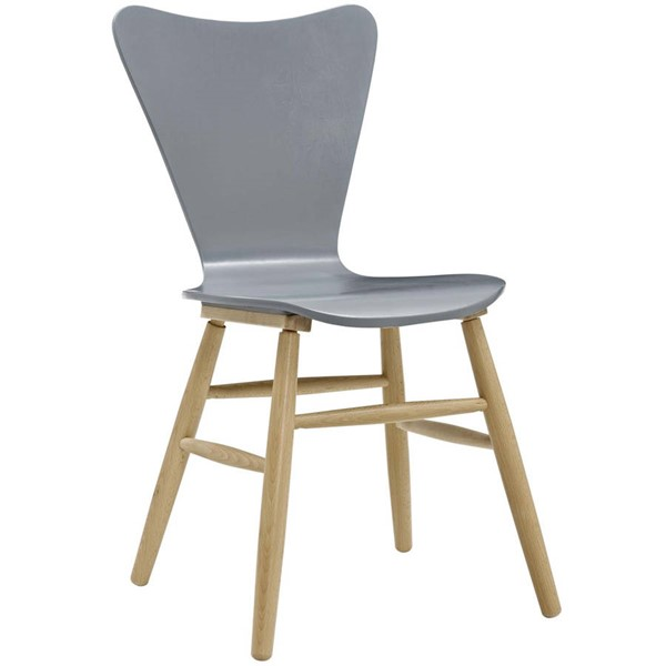 Modway Furniture Cascade Gray Wood Dining Chair EEI-2672-GRY