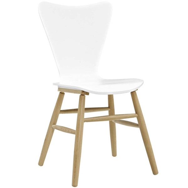 Modway Furniture Cascade White Wood Dining Chair EEI-2672-WHI