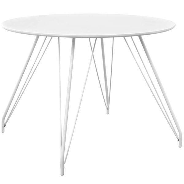 Modway Furniture Satellite White Circular Dining Table EEI-2673-WHI-SET