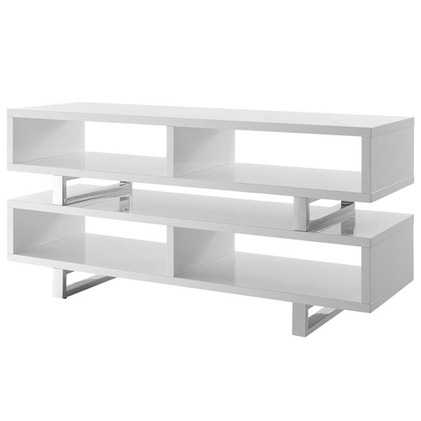 Modway Furniture Amble White 47 Inch TV Stands EEI-2678-TS-VAR