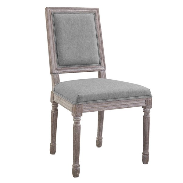 Modway Furniture Court Light Gray Upholstered Fabric Dining Side Chair EEI-2682-LGR