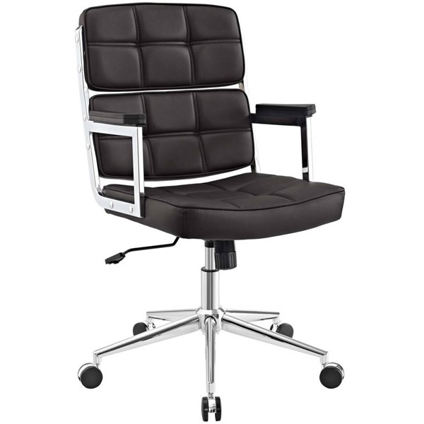 Modway Furniture Portray Brown Upholstered Office Chair EEI-2685-BRN