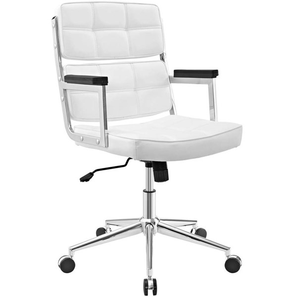 Modway Furniture Portray White Upholstered Office Chair EEI-2685-WHI