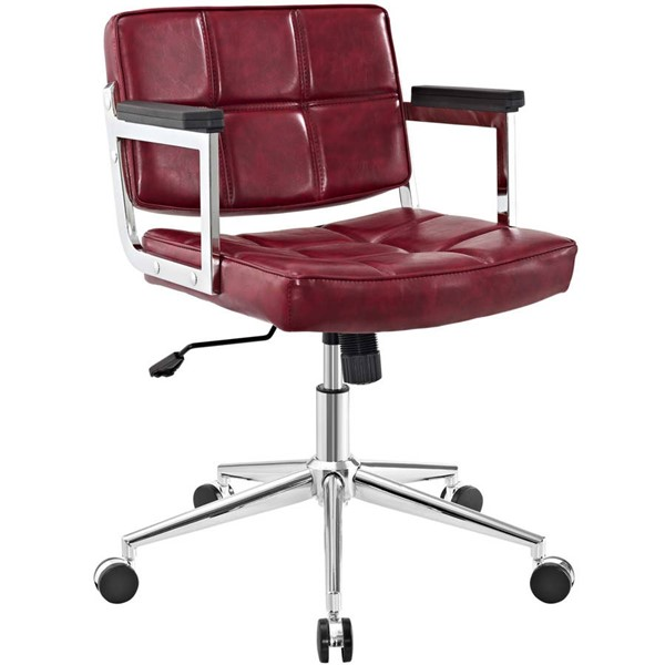 Modway Furniture Portray Red Mid Back Upholstered Office Chair EEI-2686-RED
