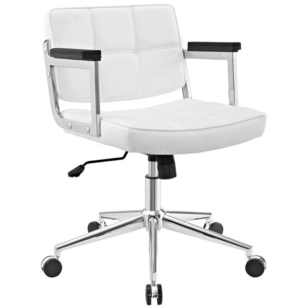 Modway Furniture Portray White Mid Back Upholstered Office Chair EEI-2686-WHI