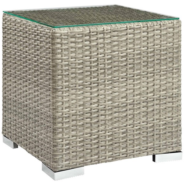 Modway Furniture Repose Light Gray Outdoor Patio Side Table EEI-2692-LGR