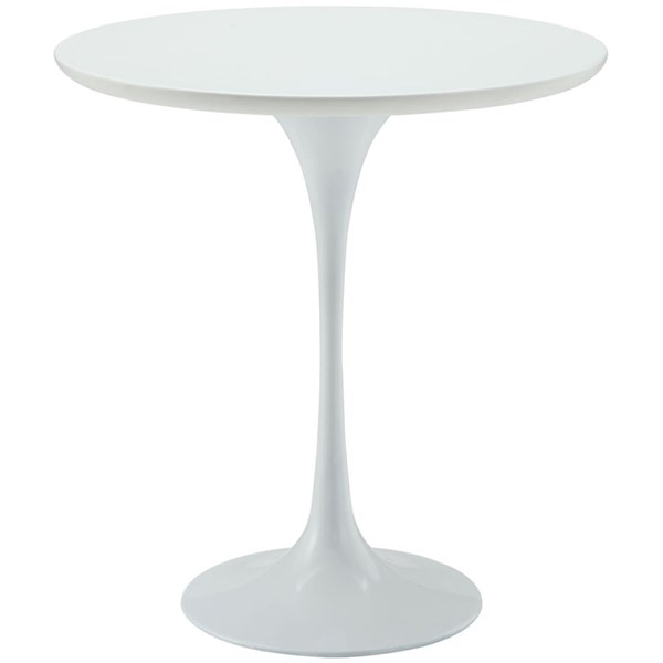 Lippa Traditional White Wood Aluminum 20 Inch Side Table EEI-271-WHI