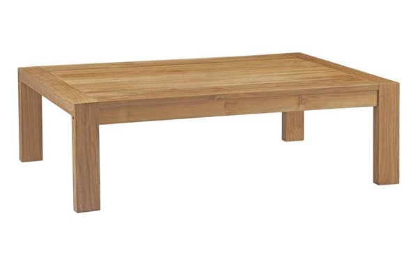 Modway Furniture Upland Natural Outdoor Patio Wood Coffee Table EEI-2710-NAT