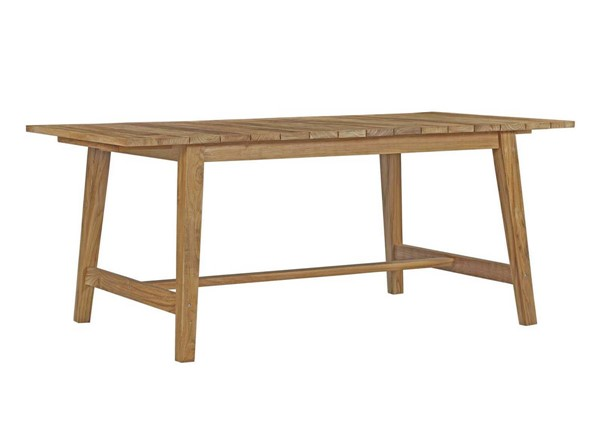 Modway Furniture Dorset Natural Solid Wood Outdoor Patio Teak Dining Table EEI-2712-NAT