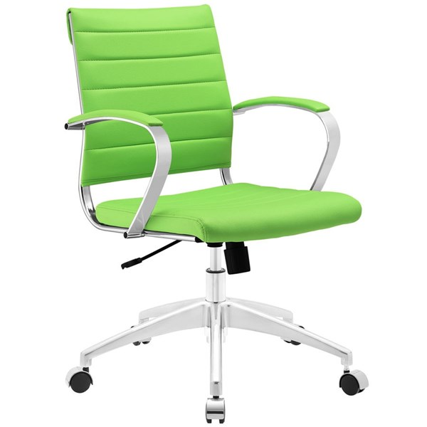 Jive Modern Bright Green Vinyl Aluminum Mid Back Office Chairs EEI-273-HOF-CH-VAR