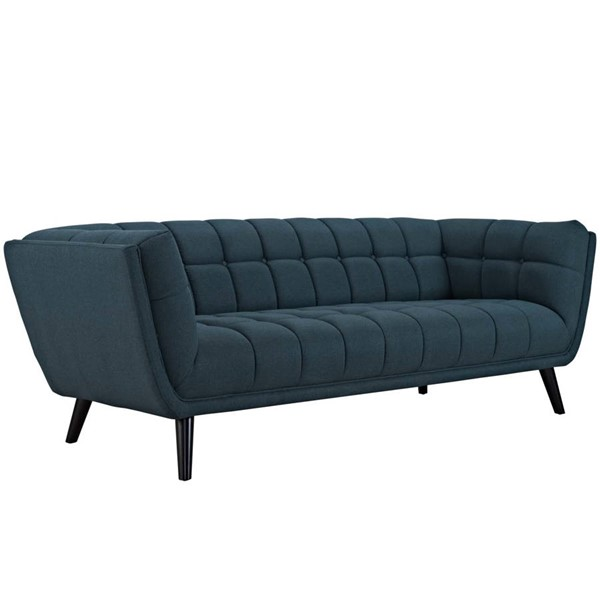 Modway Furniture Bestow Blue Upholstered Fabric Sofa EEI-2730-BLU