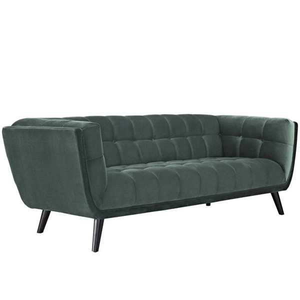 Modway Furniture Bestow Green Velvet Sofas EEI-2731-SF-VAR