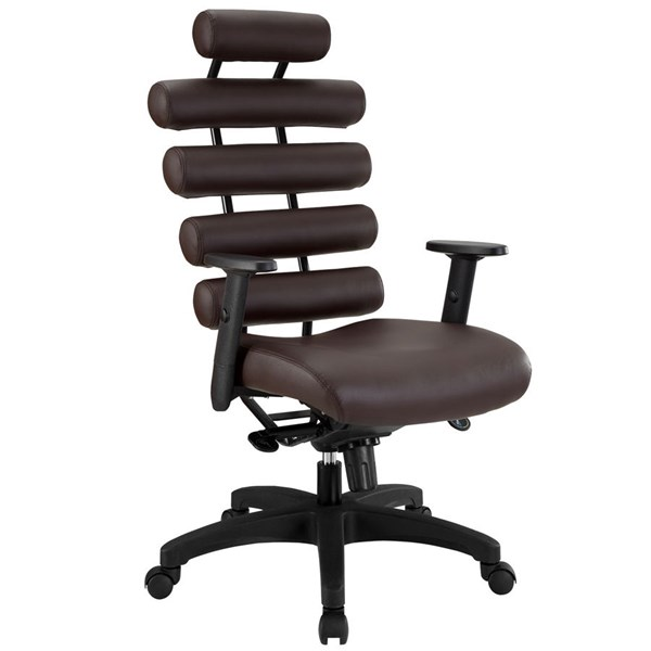 Modway Furniture Pillow Dark Brown Office Chair EEI-274-DBR