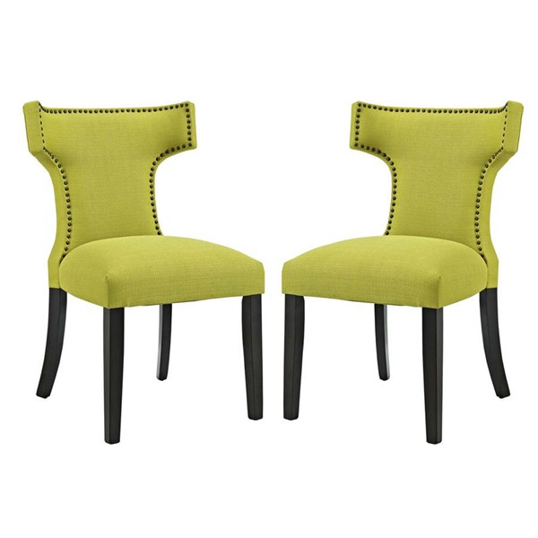 2 Modway Furniture Curve Wheatgrass Dining Side Chairs EEI-2741-WHE-SET