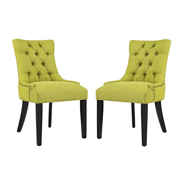2 Modway Furniture Regent Wheatgrass Fabric Dining Side Chairs EEI-2743-WHE-SET