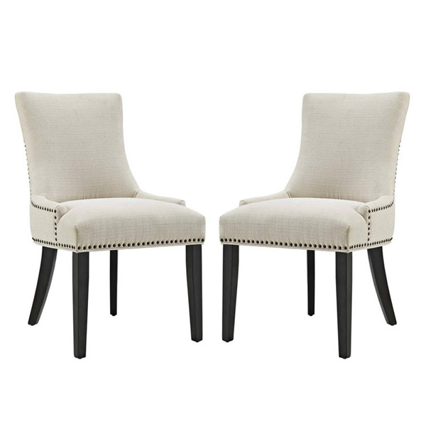 2 Modway Furniture Marquis Beige Dining Side Chairs EEI-2746-BEI-SET