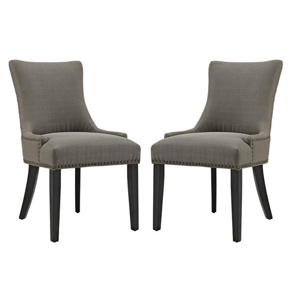 2 Modway Furniture Marquis Granite Dining Side Chairs EEI-2746-GRA-SET