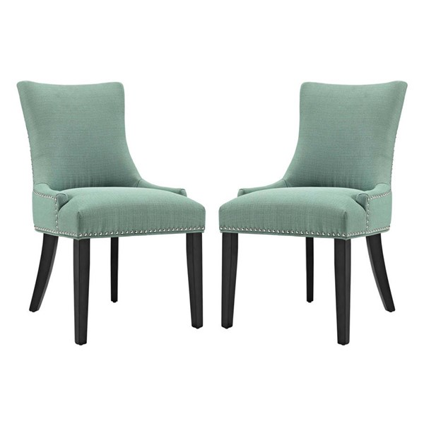 2 Modway Furniture Marquis Laguna Dining Side Chairs EEI-2746-LAG-SET