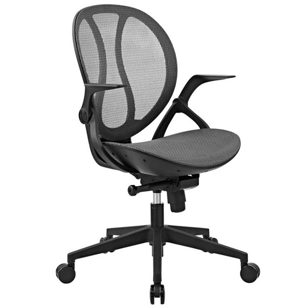 Modway Furniture Conduct Gray Vinyl Office Chair EEI-2772-GRY