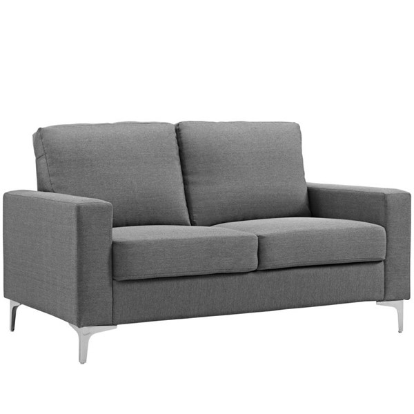 Modway Furniture Allure Gray Upholstered Sofa EEI-2777-GRY