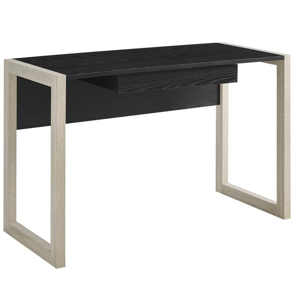 Modway Furniture Become Natural Black Wood Writing Desk EEI-2785-NAT-BLK