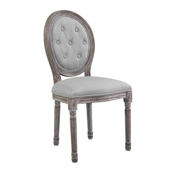Modway Furniture Arise Light Gray Upholstered Fabric Dining Side Chair EEI-2795-LGR