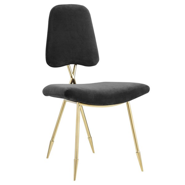 Modway Furniture Ponder Black Velvet Upholstered Dining Side Chairs EEI-2811-DCH-VAR