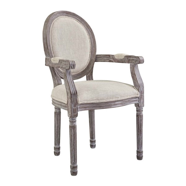 Modway Furniture Emanate Beige Upholstered Fabric Dining Armchairs EEI-2823-DCH-VAR