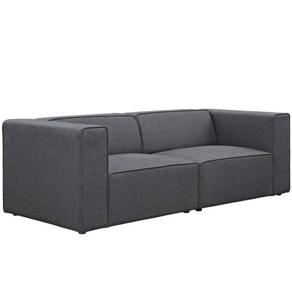 Modway Furniture Mingle Gray Upholstered Loveseat EEI-2825-GRY