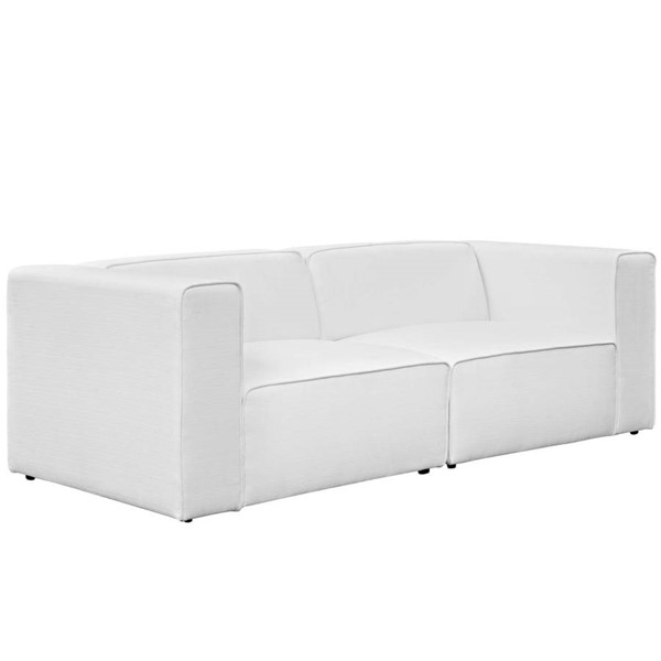 Modway Furniture Mingle White Upholstered Loveseat EEI-2825-WHI
