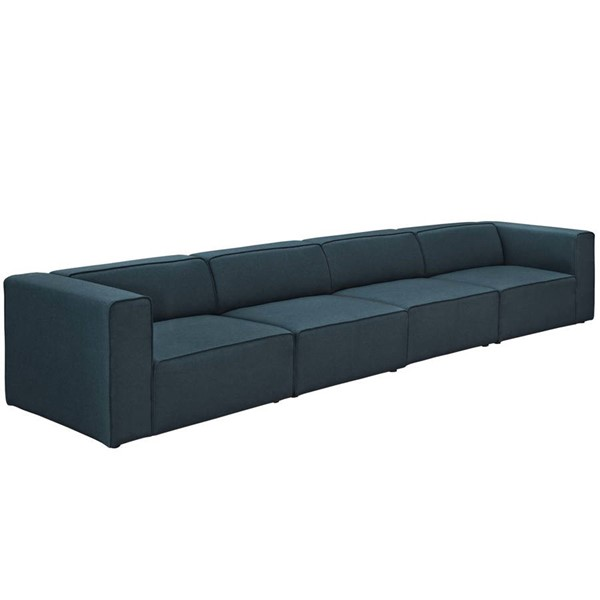 Modway Furniture Mingle Blue Fabric Upholstered Sofas EEI-2829-SF-VAR