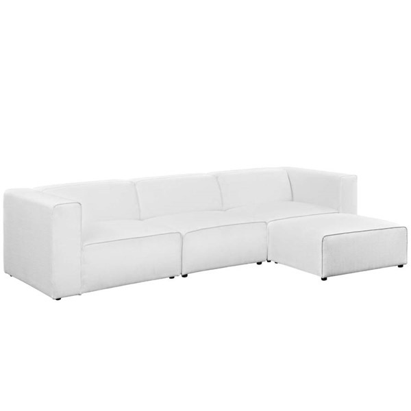 Modway Furniture Mingle White 4pc Sectional EEI-2831-WHI