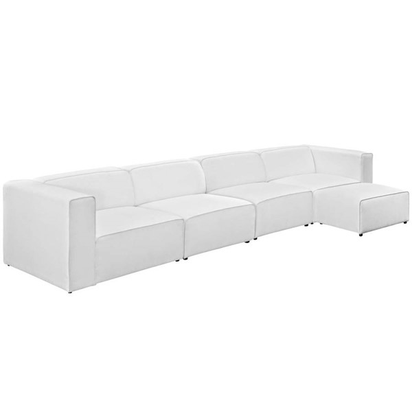 Modway Furniture Mingle White 5pc Sectional EEI-2833-WHI