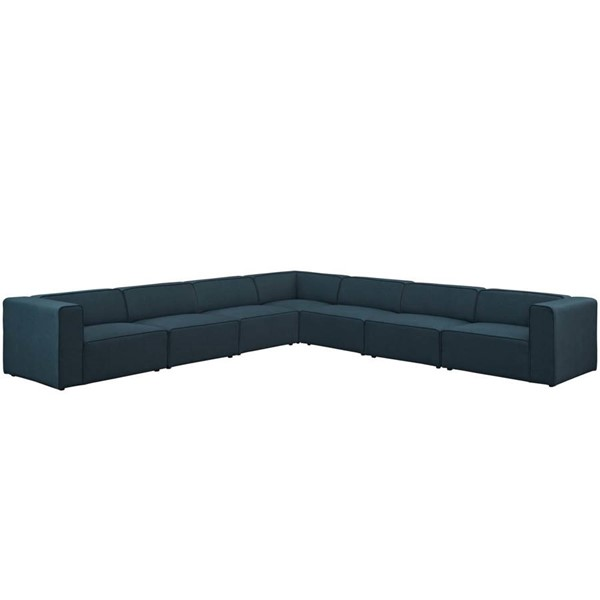 Modway Furniture Mingle Blue Fabric 7pc Sectional EEI-2837-BLU