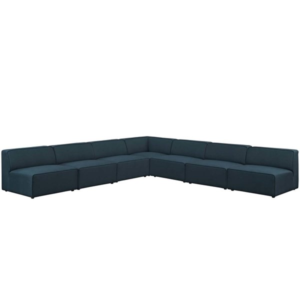 Modway Furniture Mingle Blue Fabric 7pc Armless Sectionals EEI-2841-SEC-VAR