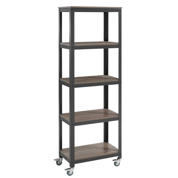Modway Furniture Vivify Gray Walnut Bookcase EEI-2854-GRY-WAL-SET