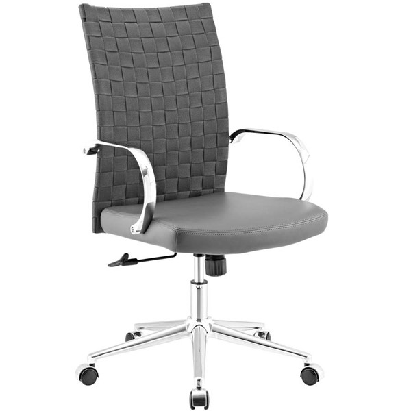 Modway Furniture Verge Gray Webbed Back Office Chair EEI-2858-GRY