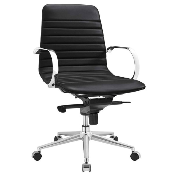 Modway Furniture Groove Black Ribbed Back Office Chair EEI-2859-BLK