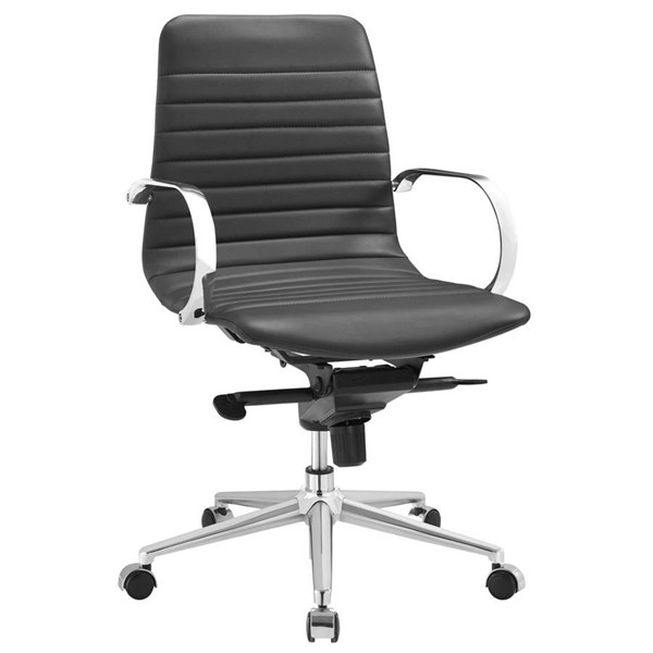 Modway Furniture Groove Gray Ribbed Back Office Chair EEI-2859-GRY