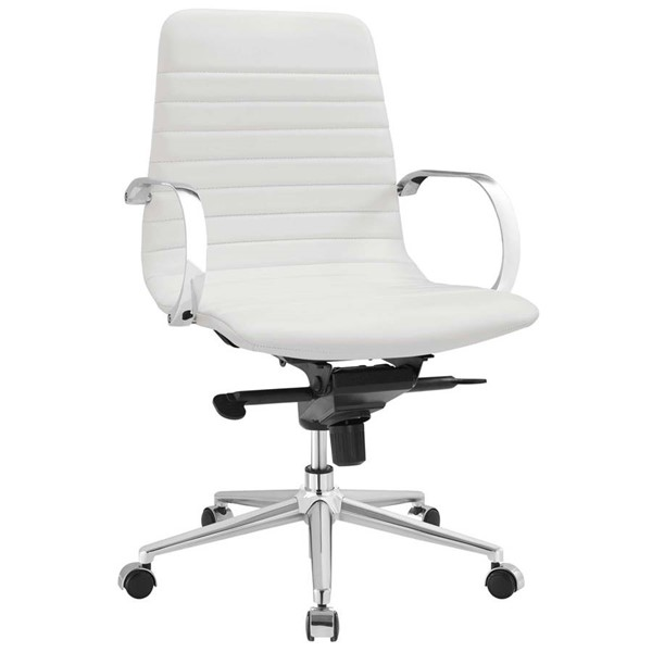 Modway Furniture Groove White Ribbed Back Office Chair EEI-2859-WHI