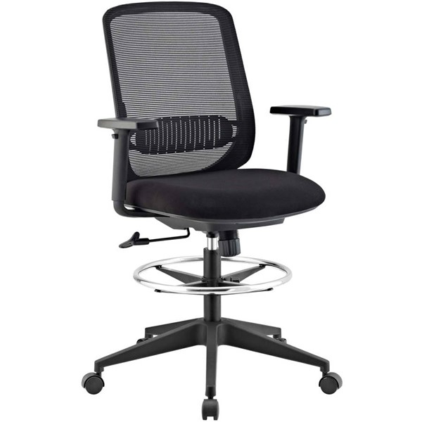 Modway Furniture Acclaim Black Mesh Drafting Chairs EEI-2862-OCH-VAR